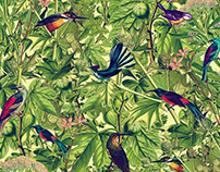 The Messengers - Tropical Textile Print for Swimwear
