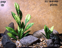 zz leaves, plastic, 1012, ron beck designs