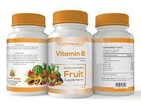 Vitamin Bottle Label Design