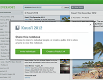 Evernote Notebook Sharing