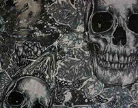 Skulls and Skeleton Key Gothic Victorian Painting Tatto
