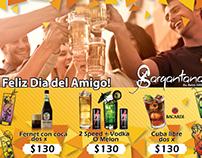 Promo dia del amigo Sargantana Resto Bar