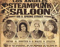 Steampunk Saloon : Poster Design