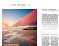 Minimalist Magazine Spread