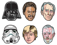 Star Wars portraits set