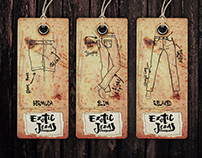 DRAWINGS FOR EXOTIC JEANS HANGTAGS / Desigual