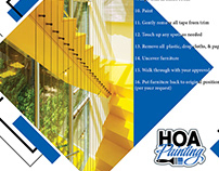 Tri-fold for HOA Painting