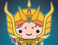Cute pop characters - Saint Seiya