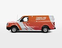 Free Cargo Van Mockup