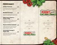 Menu Design for Peroni's Joint