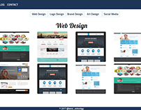 web template for graphic designer