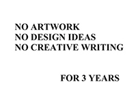 No Artwork/Poetry Created June 2004 to Mid-2007