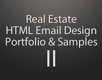 Real Estate HTML Email Design Portfolio & Samples - II