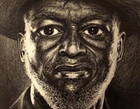 Jamaican Rum Worker Drawing