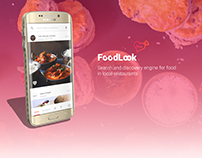 Mobile UI/UX for FoodLook - food discovery app