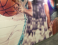Hornets Practice Court tunnel wall wrap
