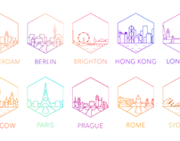 World Cities: Line Icons