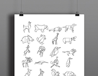 The Almost Animal Alphabet Poster