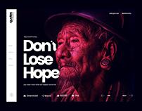 Quotes Wallpapers - Conceptual Website UI