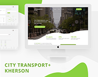 Landing • UI • CityTransport+ • Web • Design • Layout