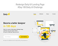 Day 100 - Redesign Daily UI Landing Page