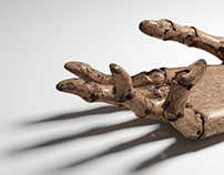 Jointed wooden hands +3D free for download