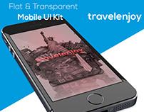 TRAVELENJOY - FLAT & TRANSPARENT MOBILE UI KIT