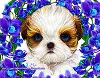 Dogs portraits / Intuos5 / CS6