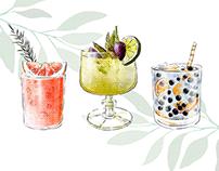 Summer drinks / Cocktail Illustrations
