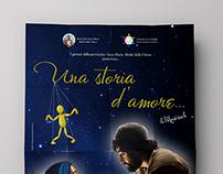 """Poster design """"Una storia d'amore"""""""