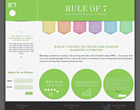 Rule of 7 Website Design