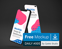 Free Dark IOS & Android MockUp