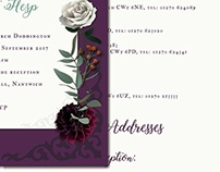 Wedding Stationary Design - Vintage Botanic Theme