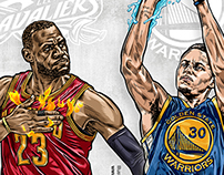 2015 NBA Finals Lebron James v.s. Stephen Curry