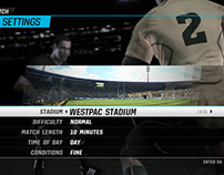 Rugby Challenge Interface Design