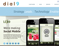 Responsive Design- dial9.ca Agency website