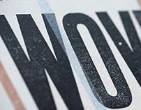Wovenhand – Letterpress gig poster