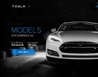 Tesla Model S promo concept