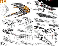 SCIFI SHIP SKETCH COMPILATION 01