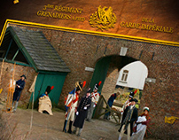 Les Grenadiers Hollandais - interactive Flash website