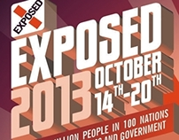 EXPOSED 2013: Campaign Flyer & Web Design