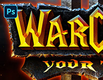 [PSD] WARCRAFT III: REFORGED TEXT EFFECT
