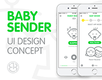 Baby Sender UI Design Concept