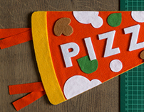 Pizza Slice - Felt Pennant