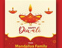 Free Diwali greetings vector