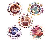 PIXAR Friendships Illustration Series