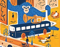 Eurostar's Metropolitan Magazine Editorial Illustration