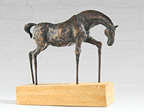 Bronze statue of small horse - limited edition