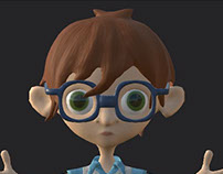 Nerd Game Character Modeling/Texturing/Rigging