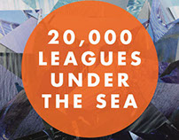 "Print Design | ""20,000 Leagues"" Book Jacket."